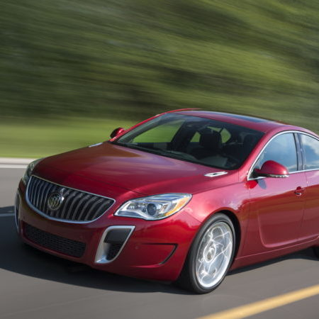 """2016 Buick Regal GS in Copper Red Metallic exterior color and equipped with 20""""wheels and sunroof."""